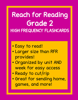 Reach for Reading Sight Word/High Frequency Word Flashcards Grade 2