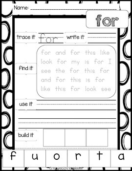 Reach for Reading Sight Words