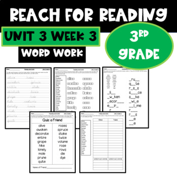 Reach for Reading | Spelling | Word Work | Unit 3 Week 3