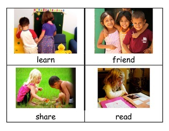 Reach for Reading Kindergarten Unit 1 Vocabulary Cards