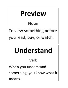Reach for Reading Unit 1 Week 1/2 Vocabulary