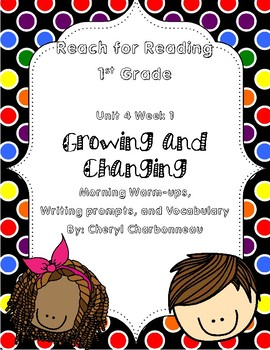 Reach for Reading Unit 4 Week 1 Morning Warm Ups, Writing Prompts and Vocabulary