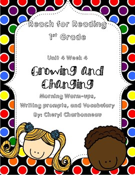 Reach for Reading Unit 4 Week 4 Morning Warm Ups, Writing Prompts and Vocabulary