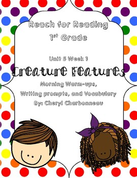 Reach for Reading Unit 5 Week 1 Morning Warm Ups, Writing Prompts and Vocabulary