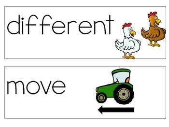 Reach for Reading Vocabulary Cards Kindergarten Unit 3: On the Farm