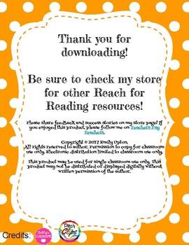Reach for Reading Vocabulary Notebook - FREEBIE!