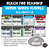 Reach for Reading Year Long Spelling Practice | Bundle | Grade 3