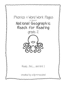Reach for Reading grade 2 Phonics Pages Unit 1