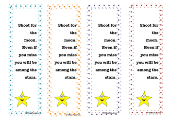 Reach for the Moon Inspirational Bookmarks