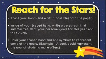 Reach for the Stars -- A Back to School Activity