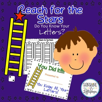 Alphabet: Reach for the Stars Dice Letter Game Ready to Print For K - 1