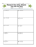 Reach for the Stars Activity- One and Two Step Equations