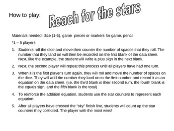 Reach for the Stars - Addition Game