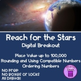 Reach for the Stars Digital Breakout Place Value Comparing Rounding Escape Room