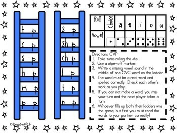 CVC Phonics Word Work Game: Reach for the Vowels Do You Know Your CVC Words?K-1