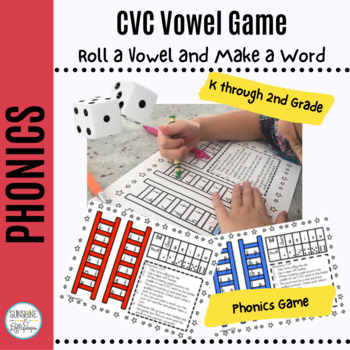 CVC Phonics Word Work Game Reach for the Vowels Do You Know Your CVC Words?K-1
