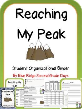Reaching My Peak Student Organizational Binder