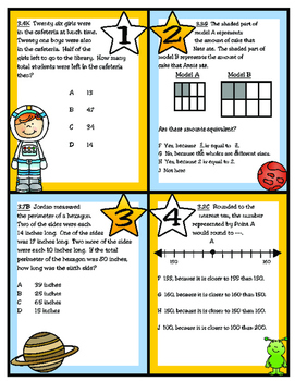 Reaching for the STAARs! (Set 3) 3rd Grade Texas Math