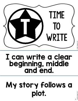 Write Like a STAR: Writing Goal Board for Ignited Literacy or Writer's Workshop