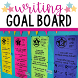 Writing Student Goal Board for Writer's Workshop and Ignited Literacy