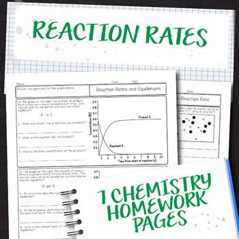 Reaction Rates Chemistry Homework Pages
