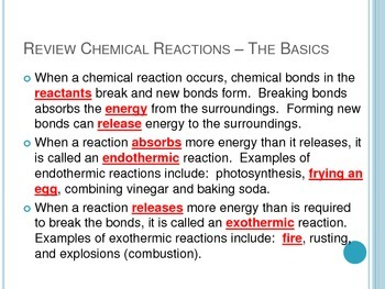 Reaction Rates (Endo,Exothermic,Catalysts,Inhibitors) - for Interactive Notebook