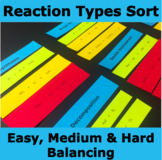 Reaction Type Sort and Leveled Balancing Practice Cards