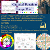 Reaction Types (Balancing, Predicting Products) Chemistry Escape Room