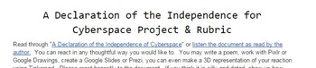 "Reaction to ""A Declaration of Independence for Cyberspace"""