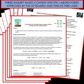 AP Chemistry Unit Bundle - Chemical Reactions and Stoichiometry