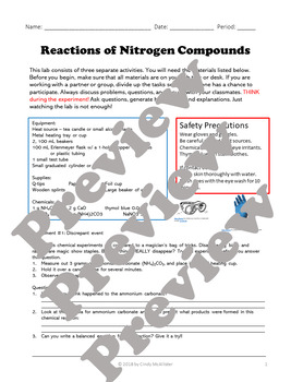Reactions of Nitrogen Compounds