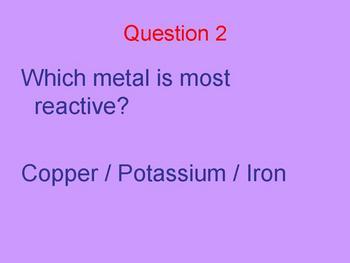 Reactions quick fire questions class quiz