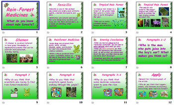 Read 180 5th Grade - Rain-Forest Medicines Powerpoint