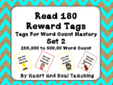 Read 180 Brag Tags For Word Count Mastery               Set 2