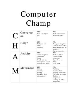 Read 180 Champs sheets