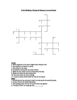 Read 180 FLEX Workshop 6 (Facing the Elements) Crossword