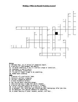 Read 180 FLEX2 Workshop 3 (What Lies Beneath) Vocabulary Crossword