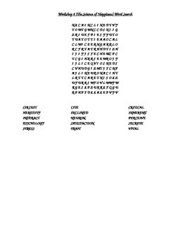 Read 180 FLEX2 Workshop 4 (The Science of Happiness) Word Search