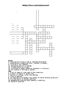 Read 180 FLEX2 Workshop 5 (Dare to Lead) Vocabulary Crossword