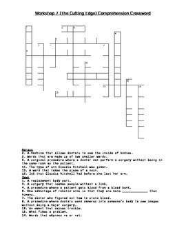 Read 180 FLEX2 Workshop 7 (The Cutting Edge) Comprehension Crossword