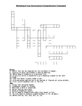 Read 180 FLEX2 Workshop 9 (Los Americanos) Comprehension Crossword