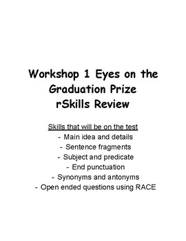 Read 180 Flex book Workshop 1: Eyes on the Graduation Prize rSkills review packe