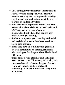Read 180 Goal Setting Paper