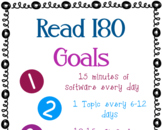 Read 180 Goals Poster