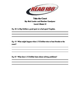 Read 180 Level 2: Take the Court