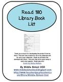 Read 180 Library Booklist