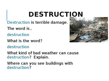 Read 180 When Disaster Strikes Workshop 2 vocabulary powerpoint (editable)