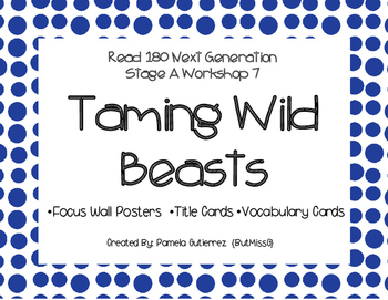 Read 180 Next Generation Stage A Workshop 7 Taming Wild Be