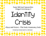 Read 180 Next Generation Stage B Workshop 3 Identity Crisis Focus Wall