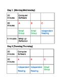Read 180 Rotation Chart